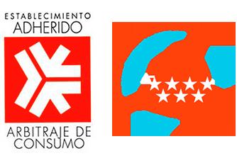 Establecimiento adherido al arbitraje de consumo de la comunidad de madrid y Servicio tecnico de calderas autorizado por la comunidad de Madrid
